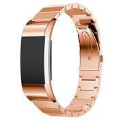 Strap-it® Fitbit Charge 2 metalen bandje (rosé goud)