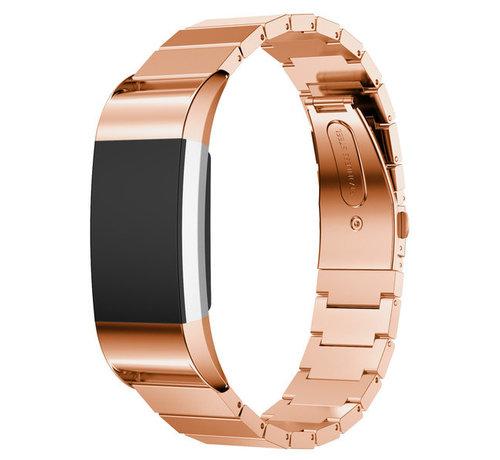 Strap-it® Strap-it® Fitbit Charge 2 metalen bandje (rosé goud)