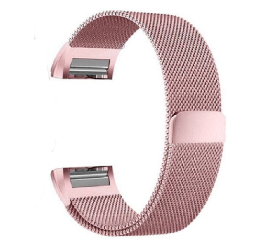 Strap-it® Fitbit Charge 2 Milanese band (roze)