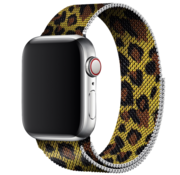 Strap-it® Apple Watch Milanese band (luipaard print)