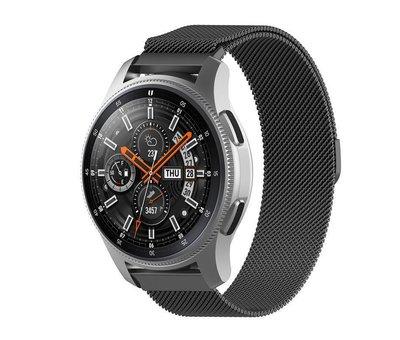 Strap-it® Strap-it® Samsung Galaxy Watch Milanese band 45mm / 46mm (zwart)
