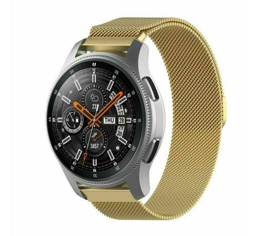 Strap-it® Strap-it® Samsung Galaxy Watch Milanese band 45mm / 46mm (goud)