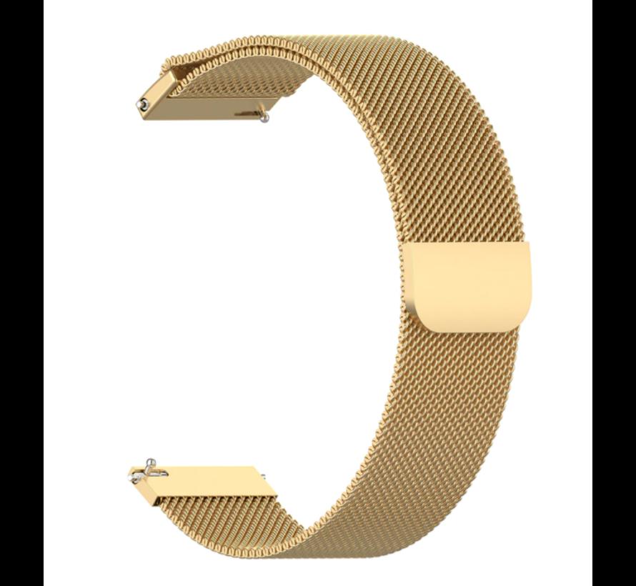 Strap-it® Samsung Galaxy Watch Milanese band 45mm / 46mm (goud)