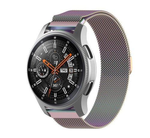 Strap-it® Strap-it® Samsung Galaxy Watch Milanese band 45mm / 46mm (regenboog)