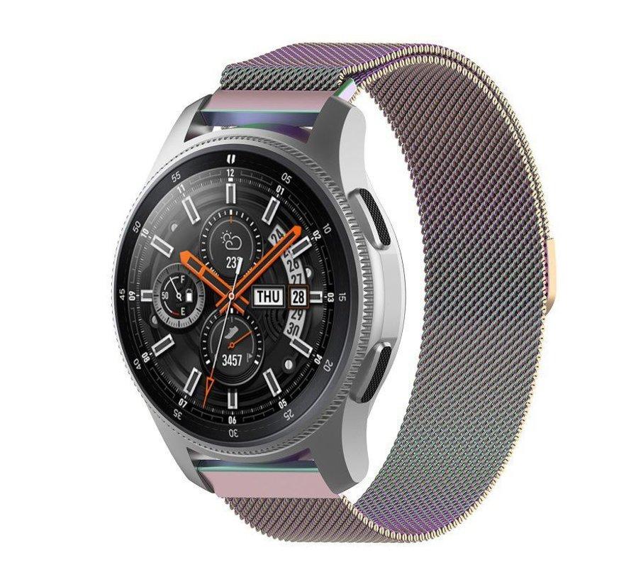 Strap-it® Samsung Galaxy Watch Milanese band 45mm / 46mm (regenboog)