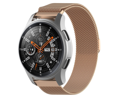 Strap-it® Strap-it® Samsung Galaxy Watch Milanese band 45mm / 46mm (rosé goud)