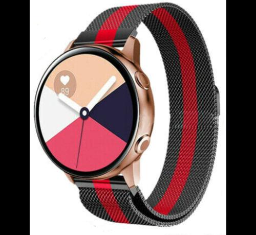 Strap-it® Strap-it® Samsung Galaxy Watch Active Milanese band (zwart/rood)