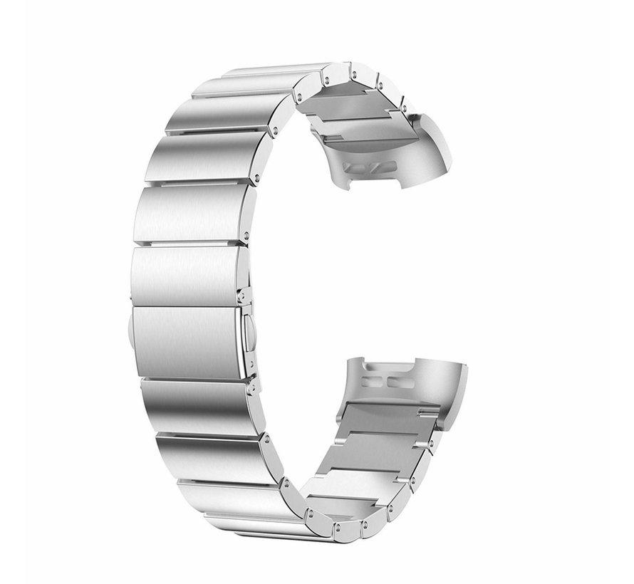 Strap-it® Fitbit Charge 3 metalen bandje (zilver)