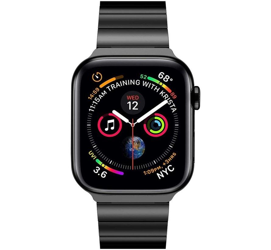 Strap-it® Apple Watch luxe metalen band (zwart)