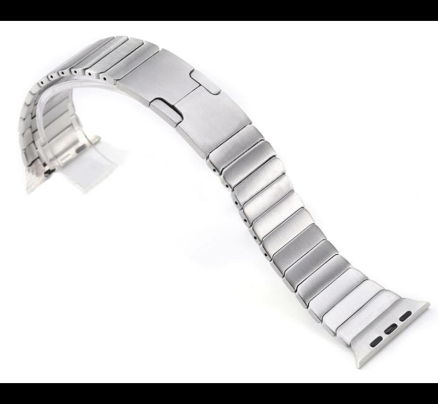 Strap-it® Apple Watch luxe metalen band (zilver)