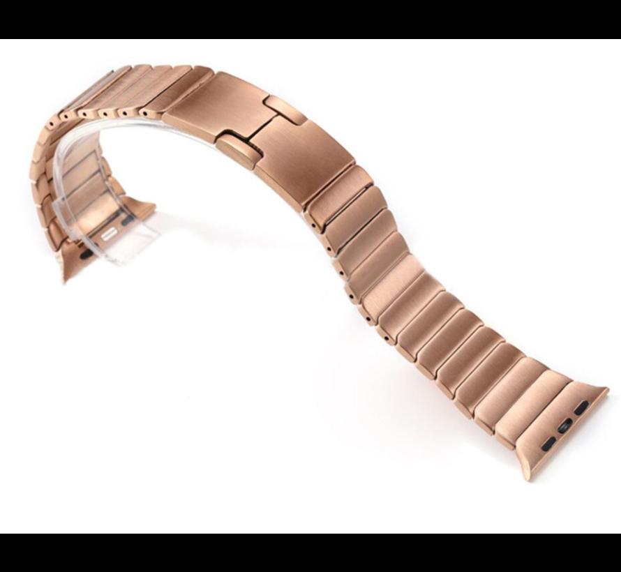 Strap-it® Apple Watch luxe metalen band (rosé goud)