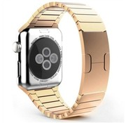 Strap-it® Apple Watch luxe metalen band (rosé goud)