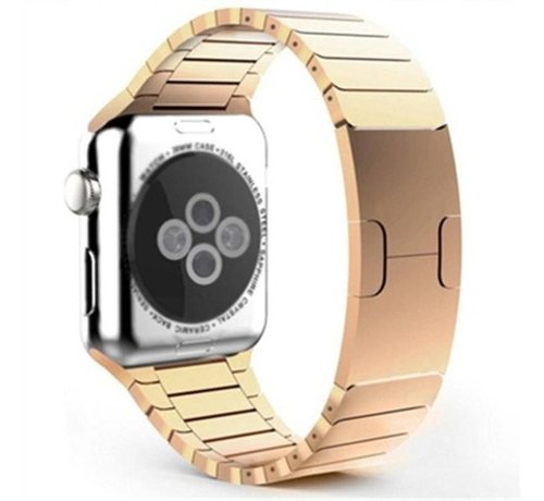 Strap-it® Strap-it® Apple Watch luxe metalen band (rosé goud)