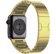 Strap-it® Apple Watch luxe metalen band (goud)