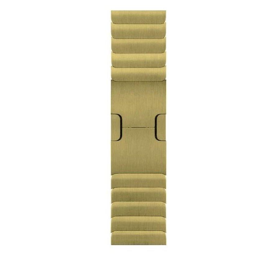 Strap-it® Apple Watch luxe metalen band (goud)