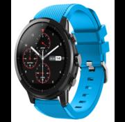 Strap-it® Xiaomi Amazfit Stratos silicone band (lichtblauw)