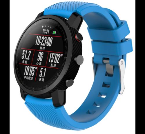 Strap-it® Strap-it® Xiaomi Amazfit Pace silicone band (lichtblauw)