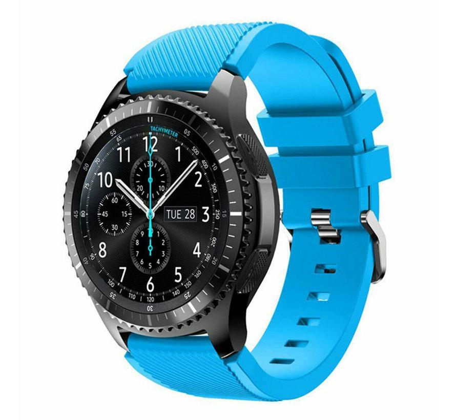 Strap-it® Samsung Galaxy Watch siliconen bandje 45mm / 46mm (lichtblauw)