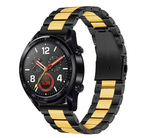 Strap-it® Strap-it® Huawei Watch GT stalen band (zwart/goud)
