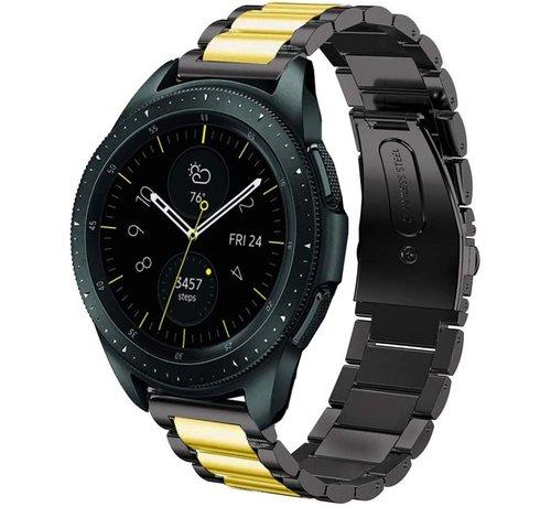 Strap-it® Strap-it® Samsung Galaxy Watch stalen band 41mm / 42mm (zwart/goud)