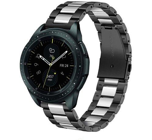 Strap-it® Strap-it® Samsung Galaxy Watch stalen band 41mm / 42mm (zwart/zilver)