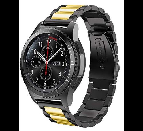 Strap-it® Strap-it® Samsung Galaxy Watch stalen band 45mm / 46mm (zwart/goud)