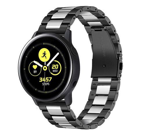 Strap-it® Strap-it® Samsung Galaxy Watch Active stalen band (zwart/zilver)