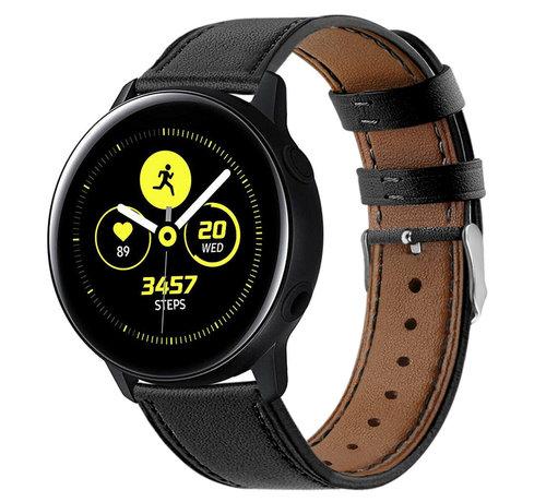 Strap-it® Strap-it® Samsung Galaxy Watch Active bandje leer (strak-zwart)