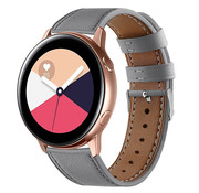 Strap-it® Samsung Galaxy Watch Active bandje leer (grijs)