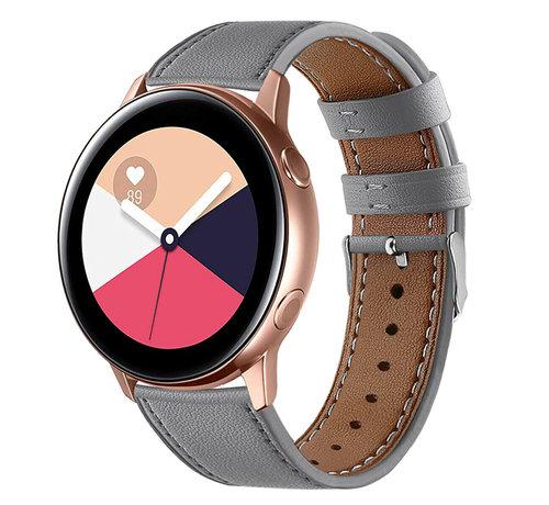 Strap-it® Strap-it® Samsung Galaxy Watch Active bandje leer (grijs)