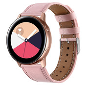 Strap-it® Samsung Galaxy Watch Active bandje leer (roze)