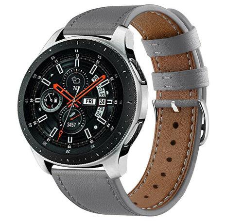 Strap-it® Strap-it® Samsung Galaxy Watch 46mm bandje leer (grijs)