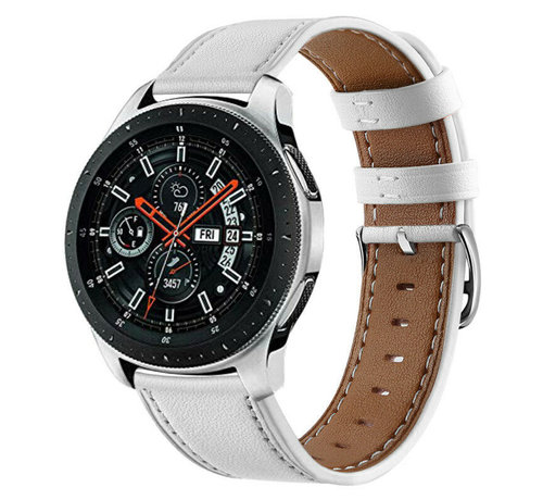 Strap-it® Strap-it® Samsung Galaxy Watch 46mm bandje leer (wit)
