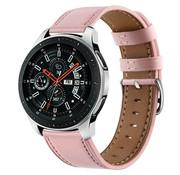 Strap-it® Samsung Galaxy Watch 46mm bandje leer (roze)