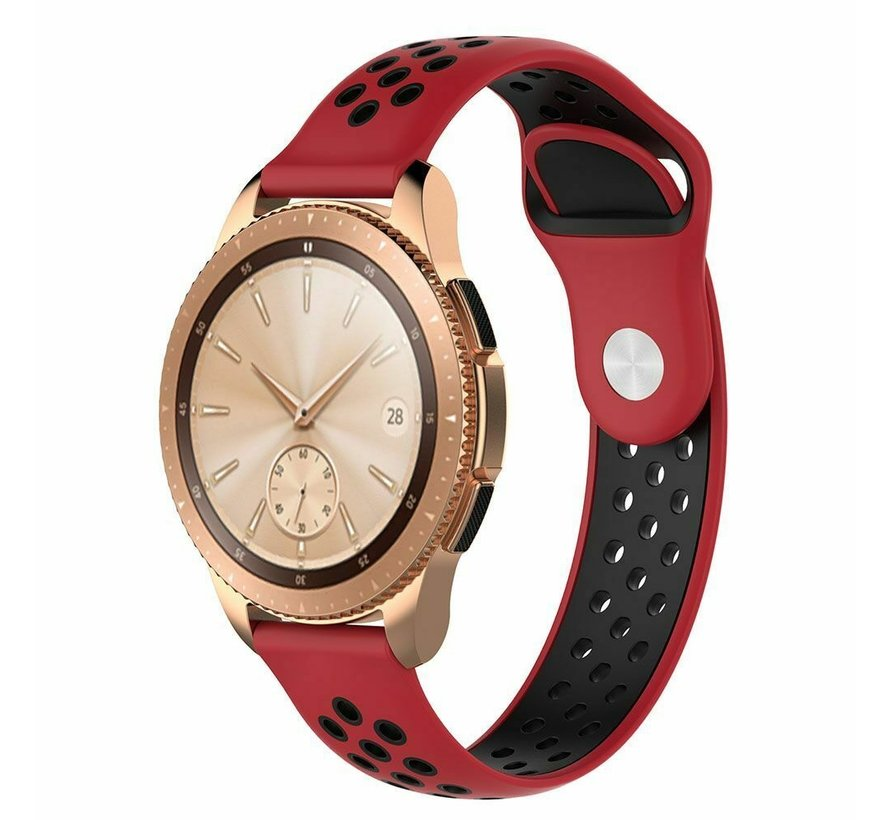 Strap-it® Samsung Galaxy Watch sport band 41mm / 42mm (rood/zwart)