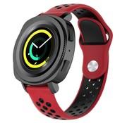 Strap-it® Samsung Gear Sport sport band (rood/zwart)