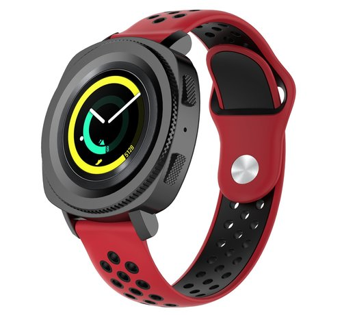 Strap-it® Strap-it® Samsung Gear Sport sport band (rood/zwart)