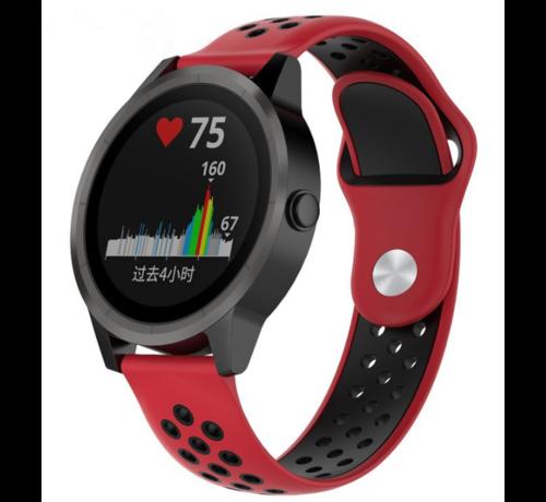 Strap-it® Strap-it® Garmin Vivoactive 3 sport band (rood zwart)