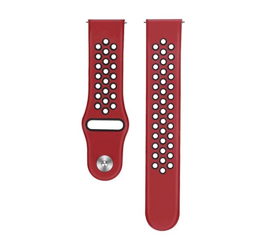 Strap-it® Samsung Galaxy Watch 3 sport band 45mm (rood/zwart)