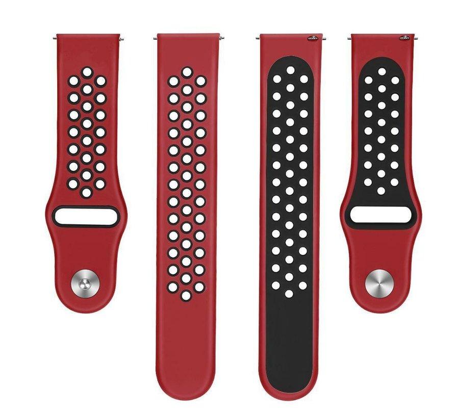Strap-it® Xiaomi Amazfit GTS sport band (rood/zwart)