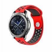 Strap-it® Samsung Gear S3 sport band (rood/zwart)