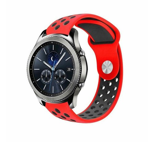 Strap-it® Strap-it® Samsung Gear S3 sport band (rood/zwart)