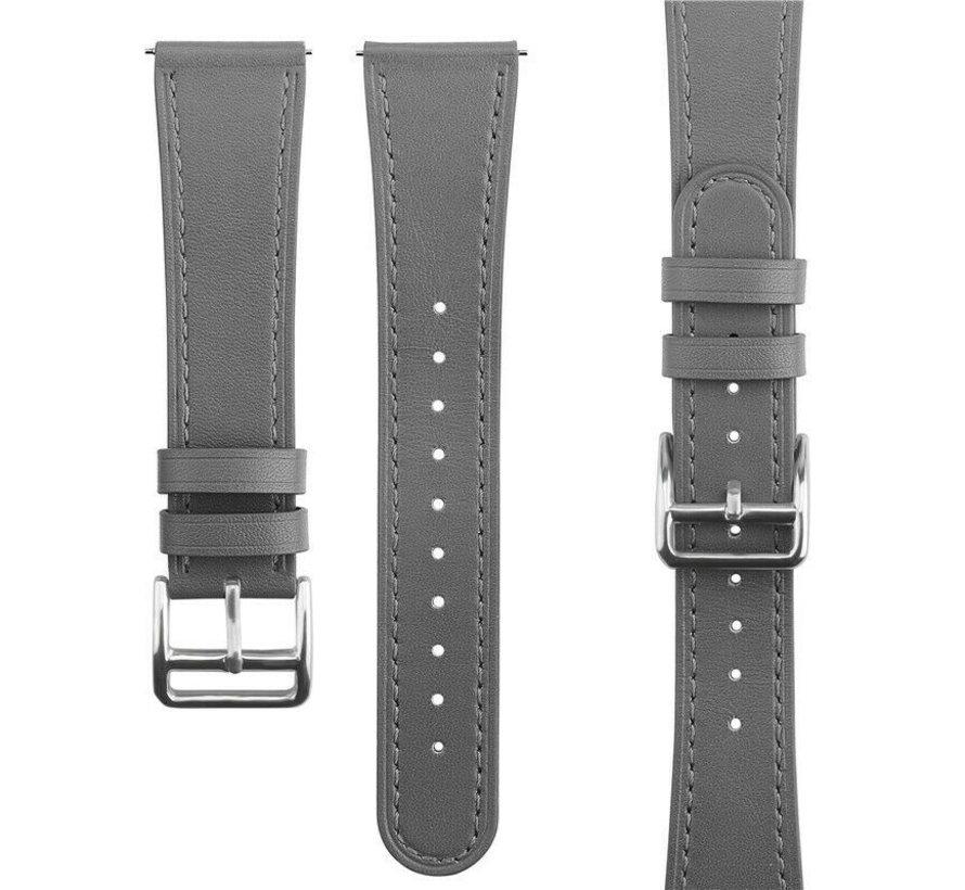 Strap-it® Garmin Vivoactive 4 bandje leer - 45mm - grijs