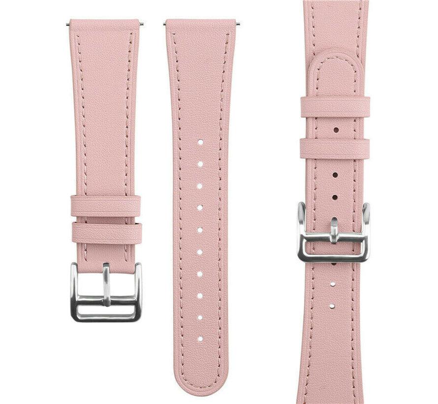 Strap-it® Garmin Vivoactive 4 bandje leer - 45mm - roze