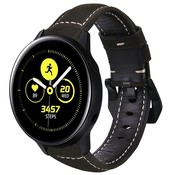Strap-it® Samsung Galaxy Watch active leren bandje (zwart)