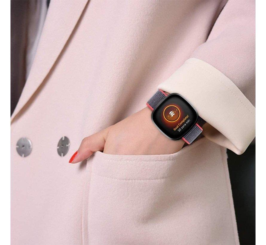 Strap-it® Fitbit Sense nylon bandje (bright powder)