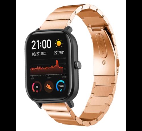 Strap-it® Strap-it® Xiaomi Amazfit GTS metalen bandje (rosé goud)