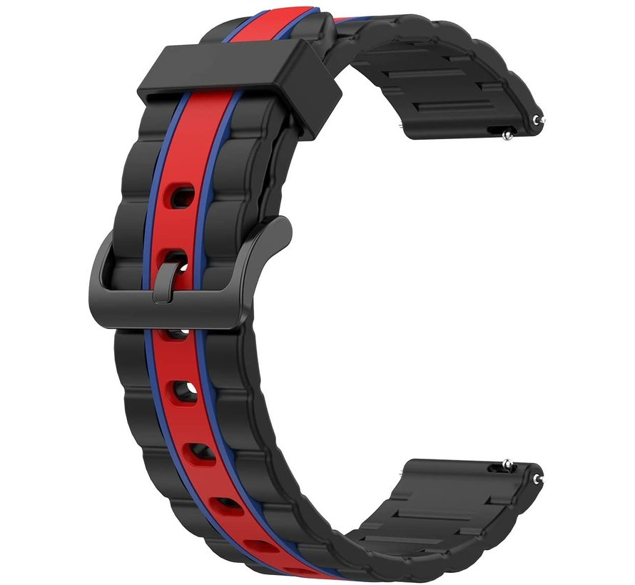 Strap-it® Samsung Galaxy Watch  41mm / 42mm Special Edition band (zwart/rood)