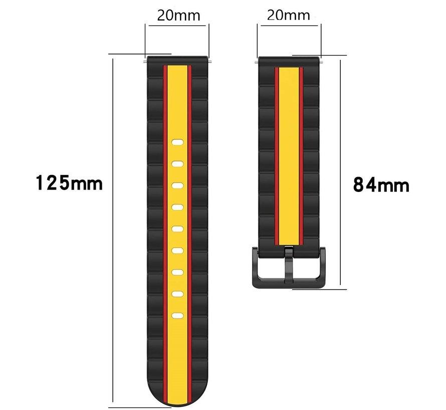 Strap-it® Samsung Galaxy Watch Active Special Edition band (zwart/geel)