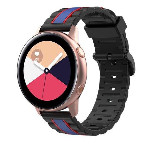 Strap-it® Strap-it® Samsung Galaxy Watch Active Special Edition band (zwart/blauw)